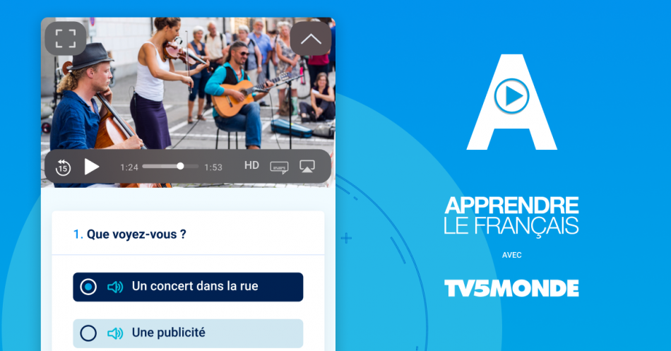 Capture de l'application Apprendre de TV5MONDE